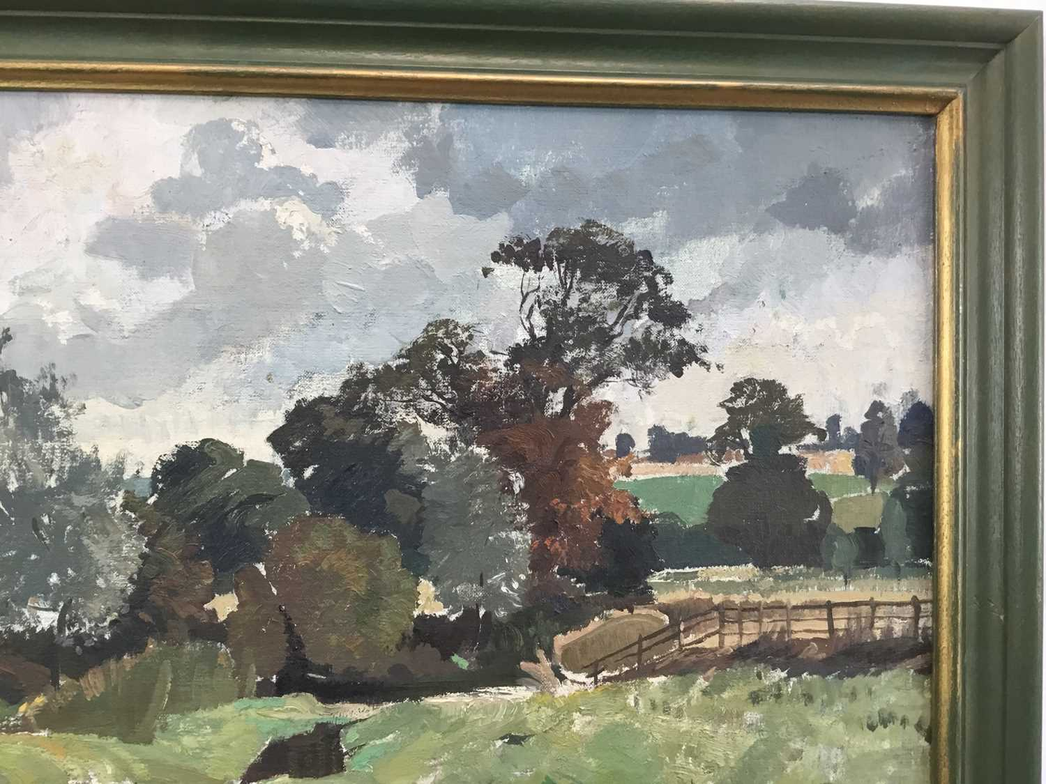 Adrian Chorley, oil on board, figures at Nayland - Image 2 of 7