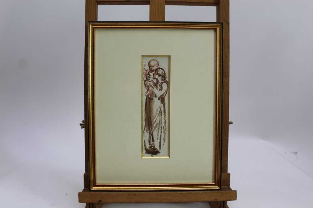 Louisa Anne, Marchioness of Waterford (1818-1891) monochrome watercolour - Gathering Wood, togethe - Image 5 of 6