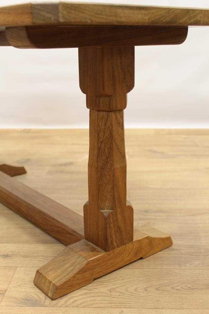 Manner of Robert 'Mouseman' Thompson of Kilburn, hardwood coffee table - Image 3 of 4