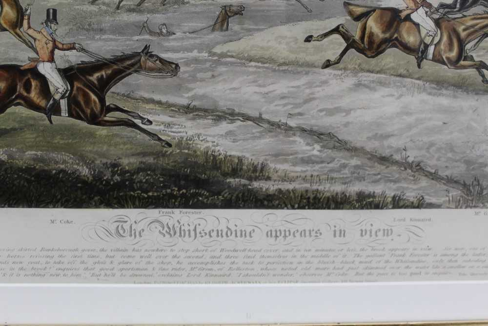Henry Alken, five hand coloured engravings - The Quorn, in glazed frames - Image 15 of 19