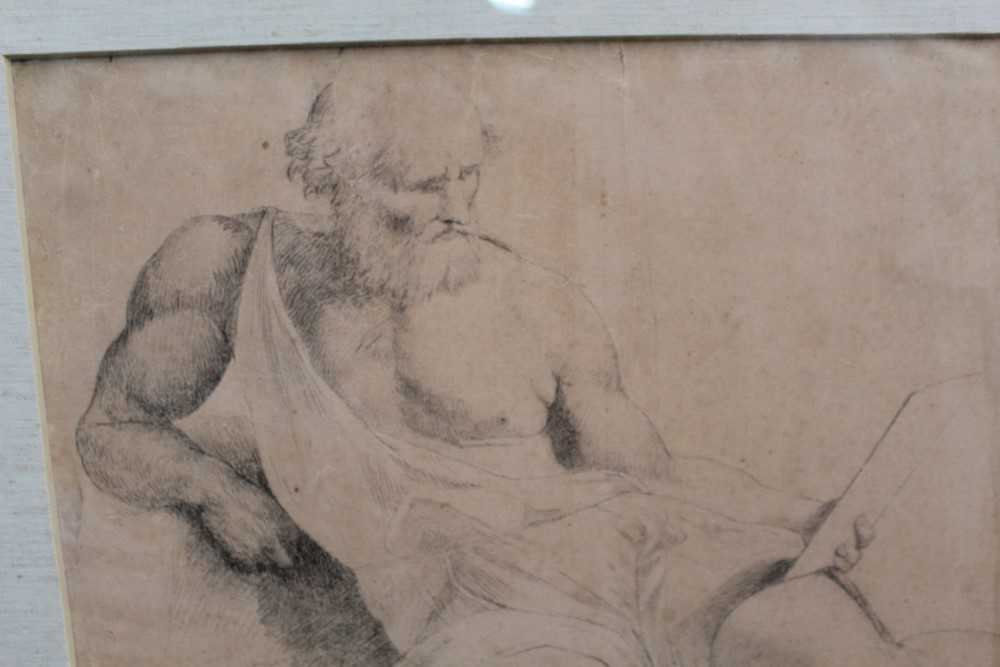 Manner of James Barry (1741-1806) pair of drawings - studies of the Sistine Chapel after Michelangel - Image 2 of 11