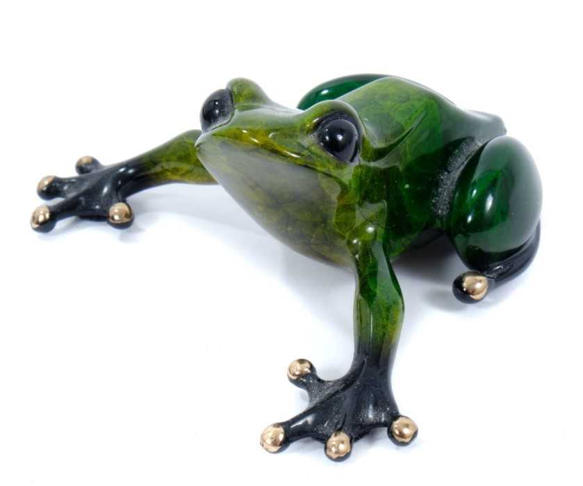 Tim Cotterill 'Frogman' enamelled bronze sculpture, signed, dated '05 and numbered 3682/5000, 9cm lo