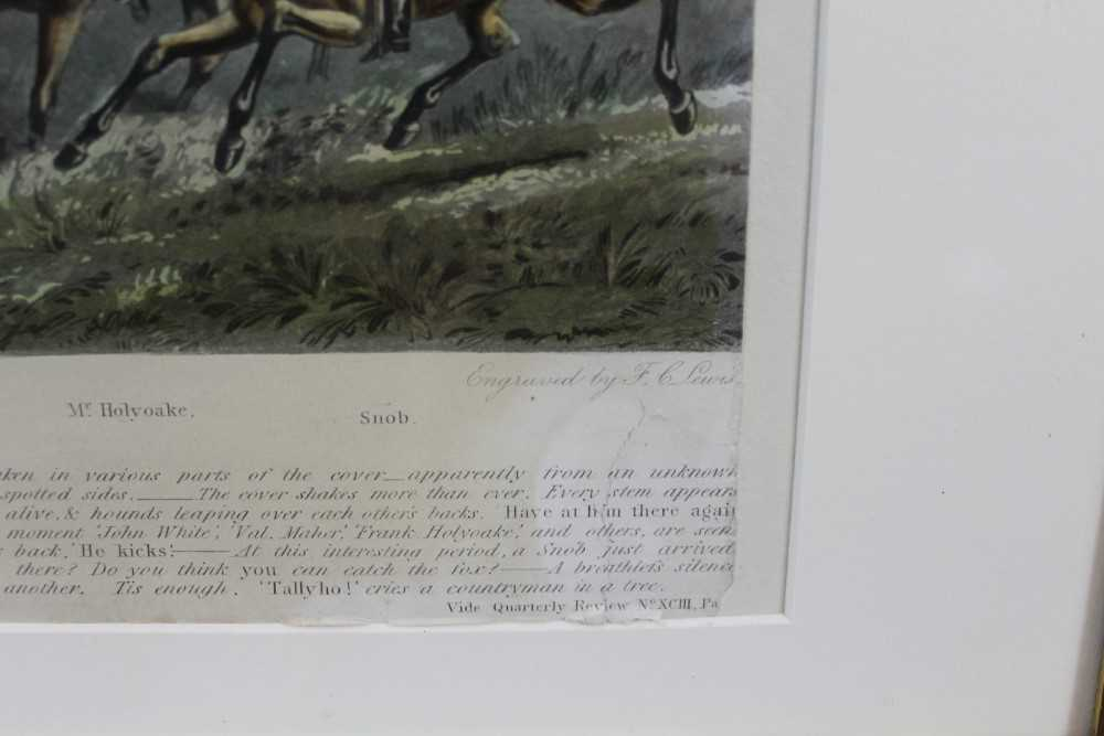 Henry Alken, five hand coloured engravings - The Quorn, in glazed frames - Image 4 of 19