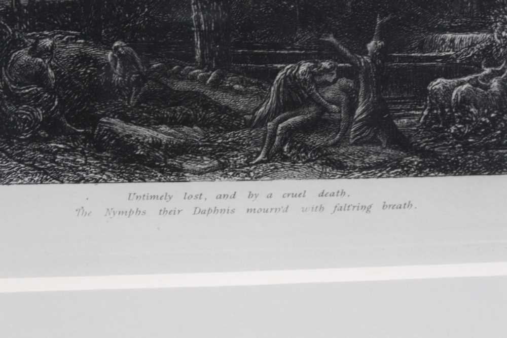 Samuel Palmer (1805-1881) pair of etchings - The Sepulchre and The Cypress Grove, in glazed gilt fra - Image 9 of 12