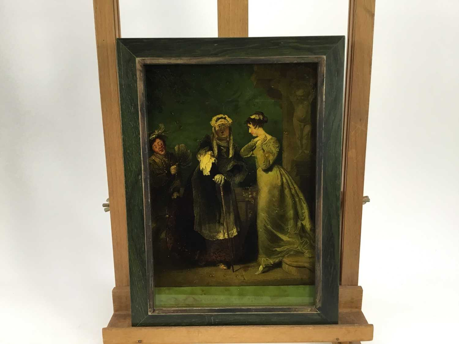 Jenny Simpson (1931-2020), Georgian-style glass pictures, framed and glazed - eight history and genr - Image 3 of 10