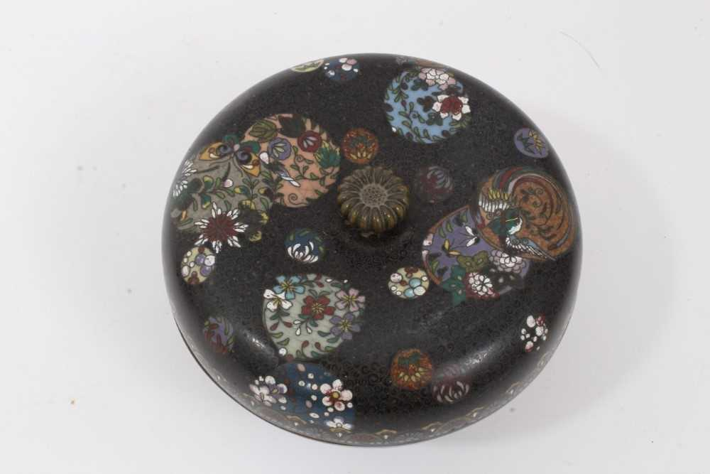 Japanese cloisonné pot and cover, together with another - Image 3 of 10