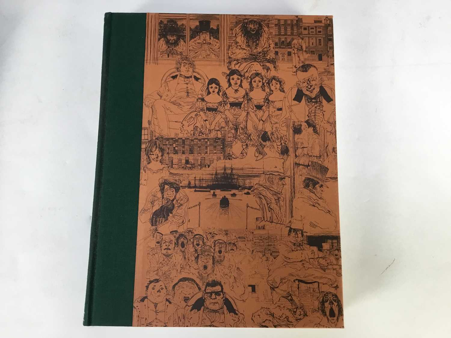 Collection of Charles Dickens books published by The Folio Society, in green slip cases, together wi - Image 7 of 11