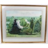 *Francis Plummer (1930-2019) watercolour - Wooded Lake, initialled and dated '79, 46cm x 60cm, in gl