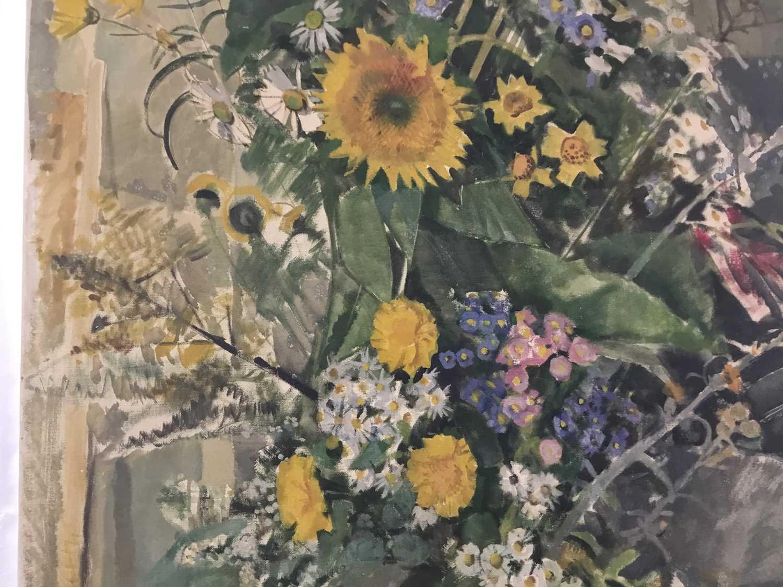 "Beryl Maud Sinclair (1901-1967) oil on canvas - ""An Essex Bouquet"", unframed - Image 4 of 8"
