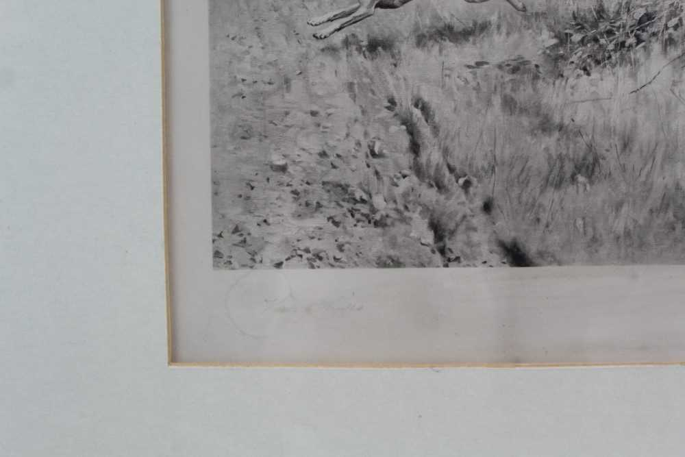 Thomas Blinks (1860-1912) three signed photogravures - Hunting Scenes, 40cm x 57cm, in glazed frames - Image 4 of 15