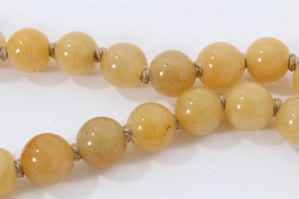 Jade bead necklace - Image 4 of 7