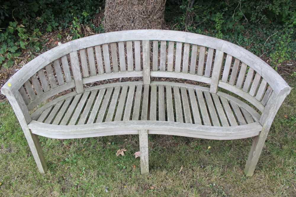 Teak garden bench - Image 2 of 5