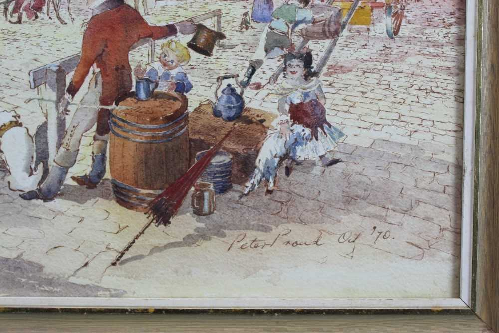 Peter Proud, watercolour - Adnams Brewery, Southwold, signed and dated '70, in glazed frame - Image 3 of 7