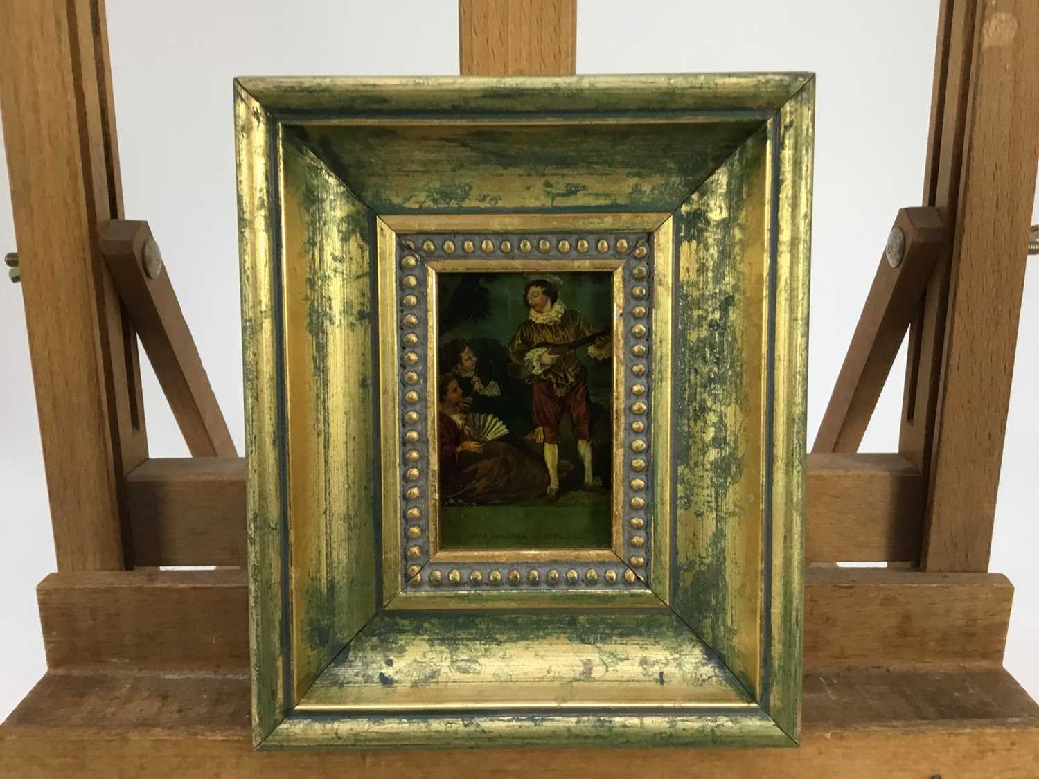 Jenny Simpson (1931-2020), Georgian-style glass pictures, framed and glazed - eight mixed pictures - Image 9 of 11