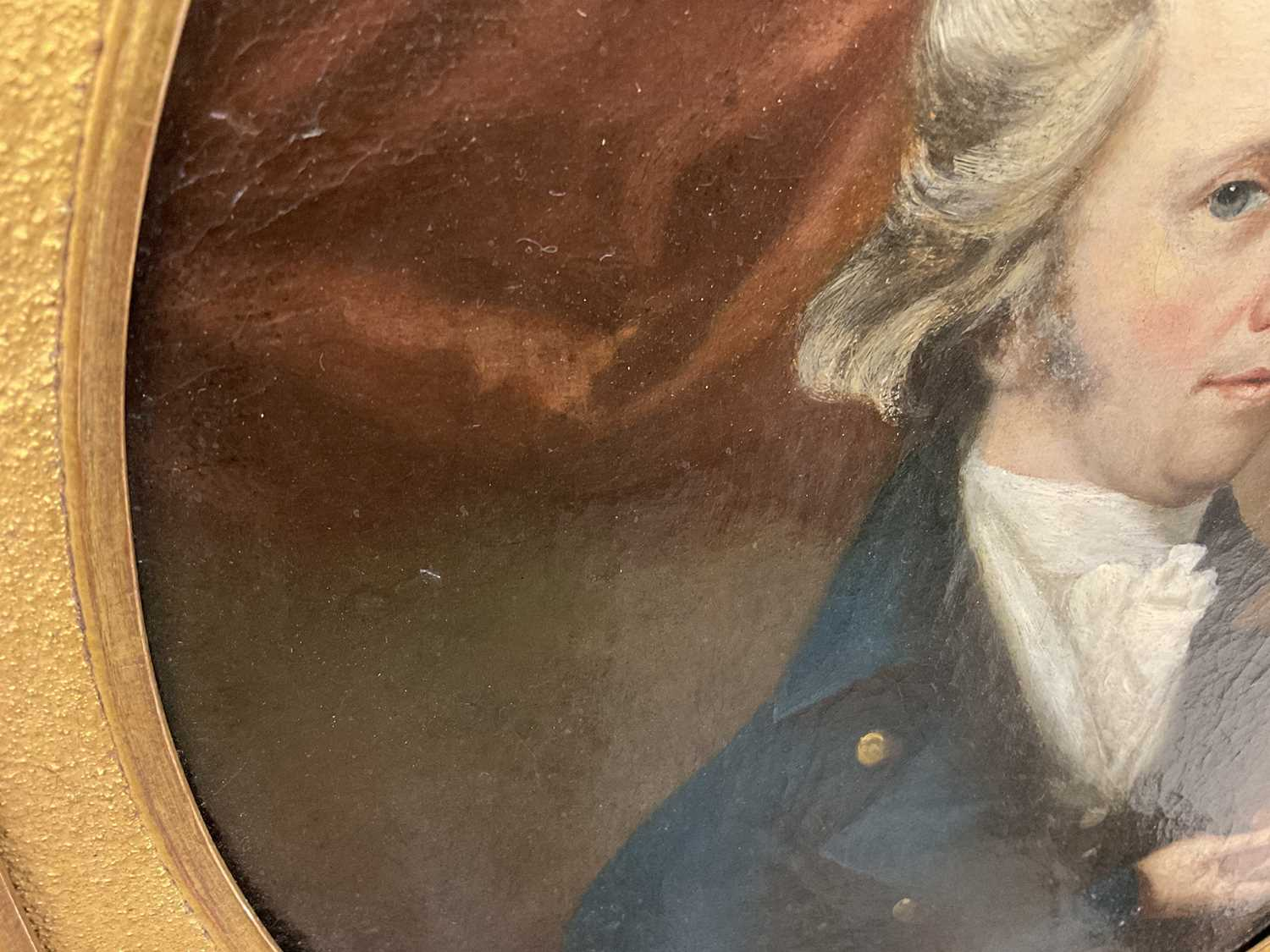 John Greham, late 18th century, oval oil on canvas - portrait of a gentleman, in gilt frame - Image 10 of 11