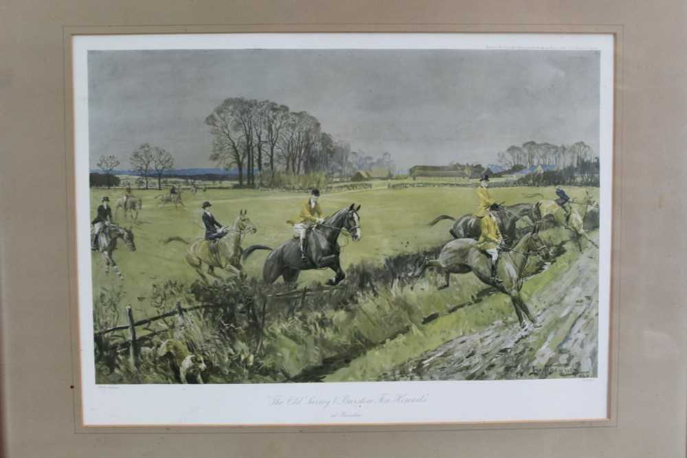 *Lionel Edwards (1878-1966) set of four hunting prints - The Old Surrey & Burstow, The South Notts, - Image 7 of 21