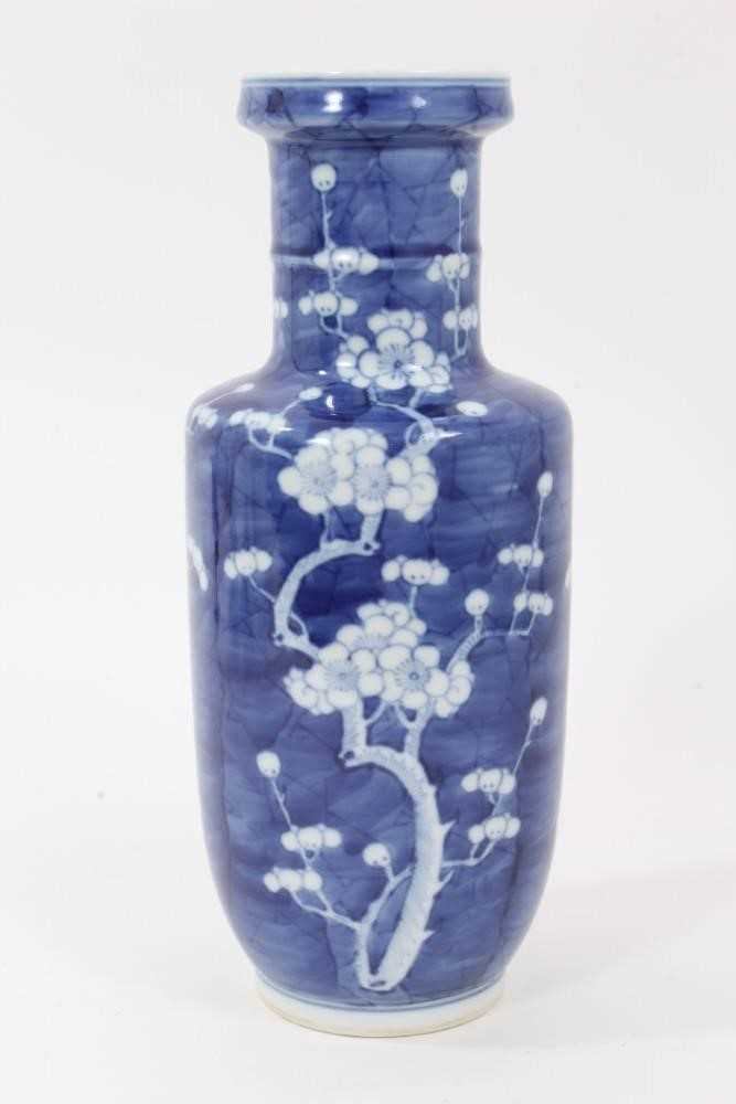 19th/20th century Chinese prunus blossom rouleau vase - Image 2 of 5