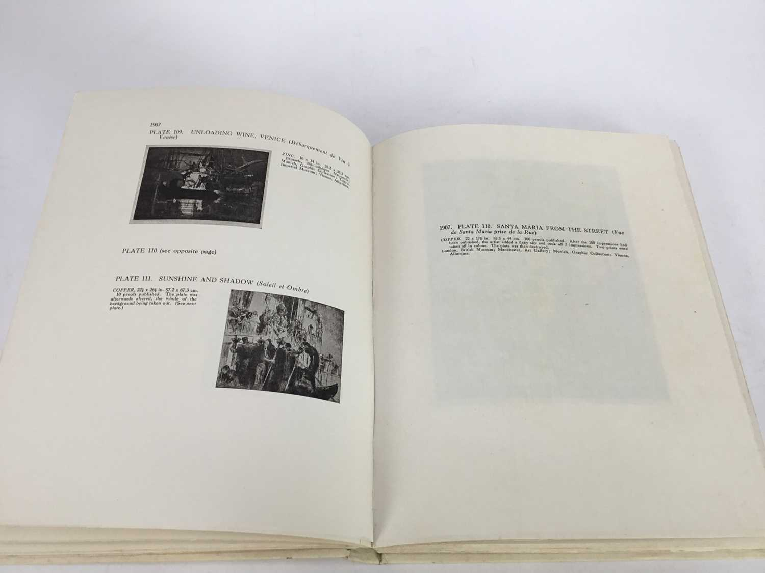 Book - The Etchings of Frank Brangwyn, R.A. A Catalogue Raisonne By W. Gaunt, limited edition 10/125 - Image 7 of 8