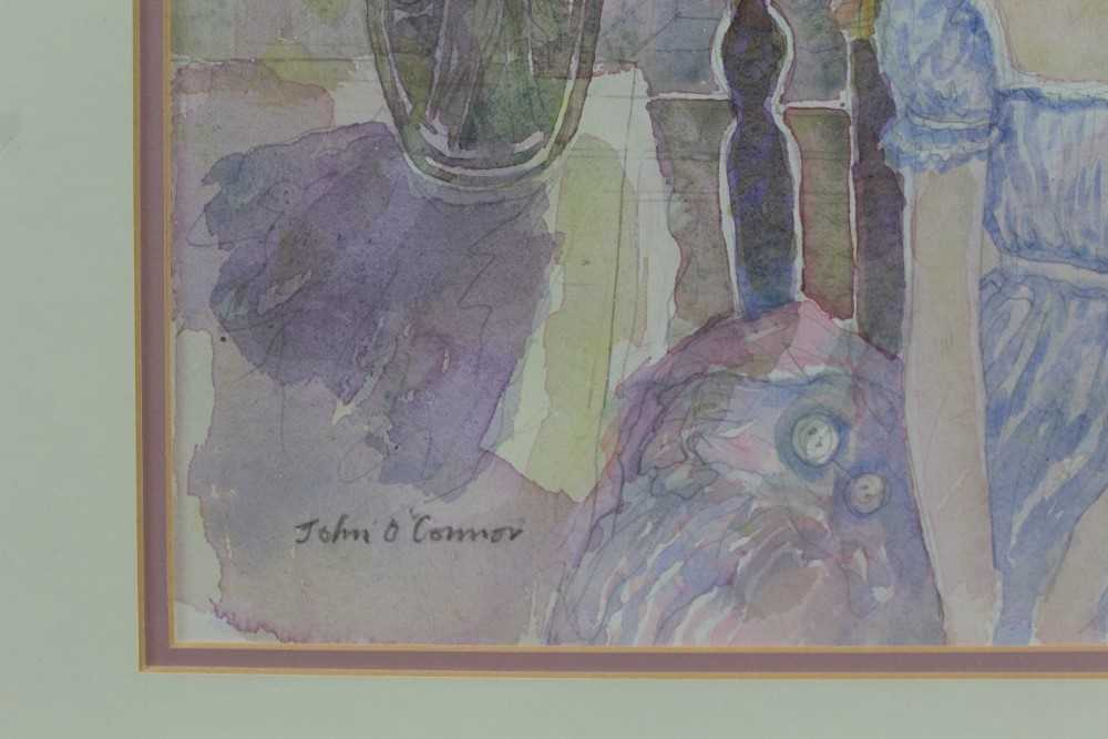 John Scorror O'Conner (1913-2004) watercolour, seated girl, signed. - Image 3 of 4