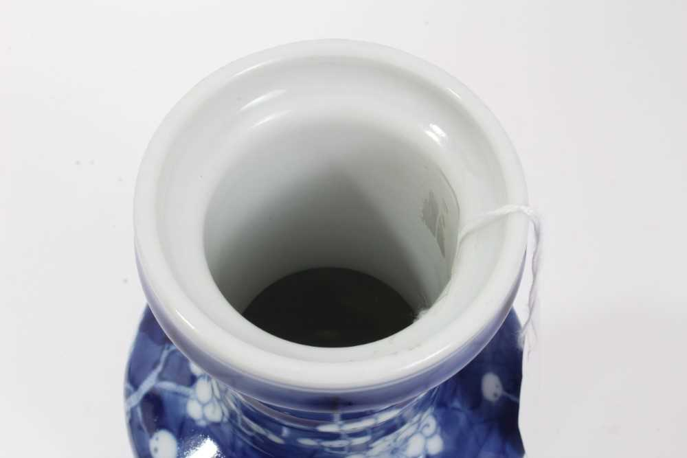 19th/20th century Chinese prunus blossom rouleau vase - Image 4 of 5