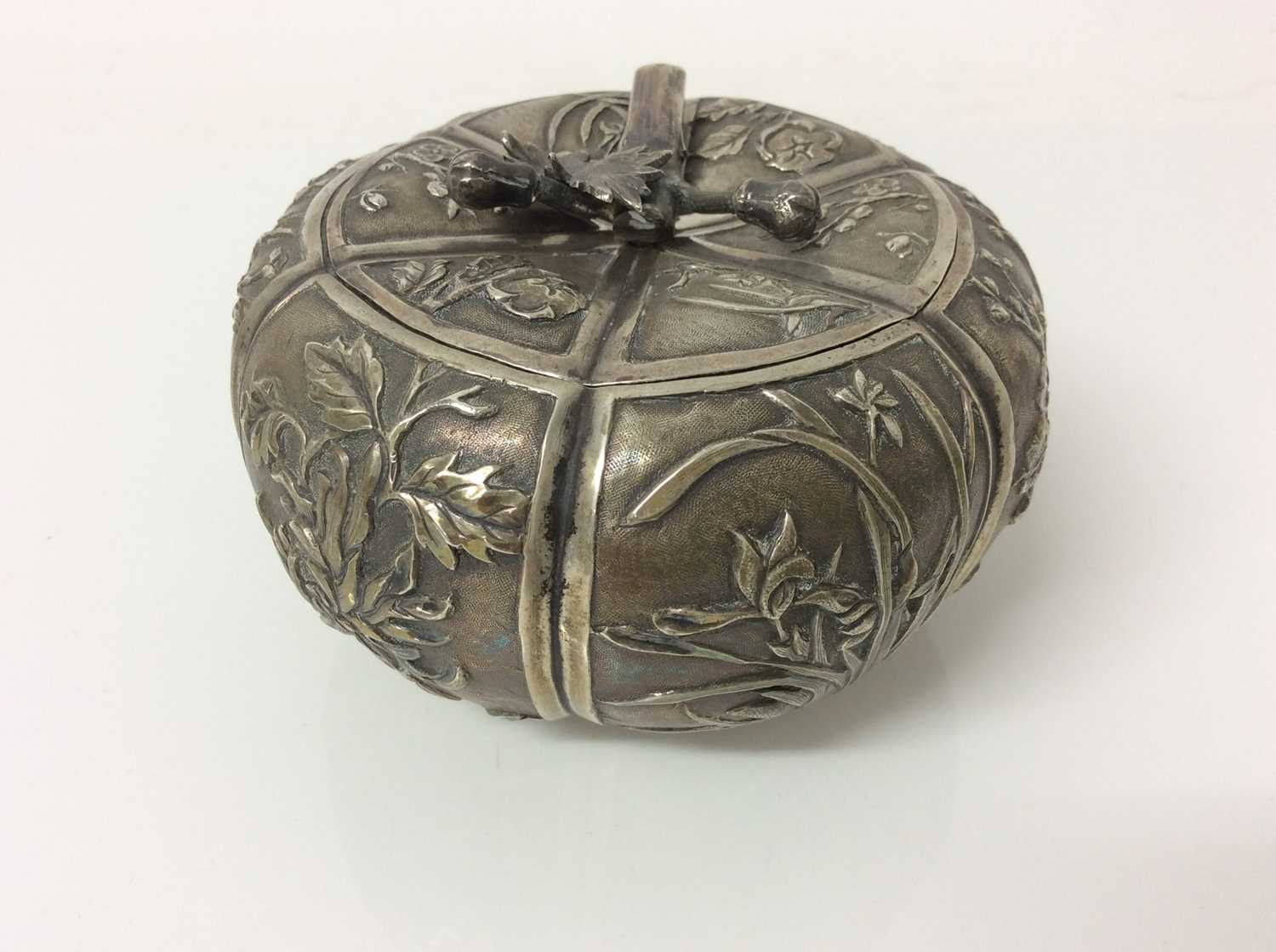 Late 19th/early 20th century Chinese silver lidded pot - Image 4 of 10