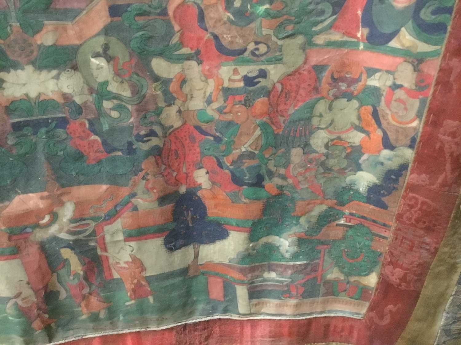 Early Tibetan thangka together with a related framed letter - Image 10 of 14