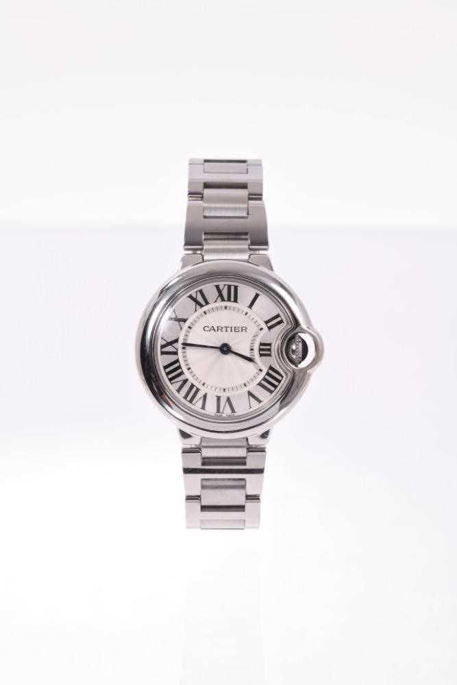 Cartier Ballon Bleu stainless wristwatch