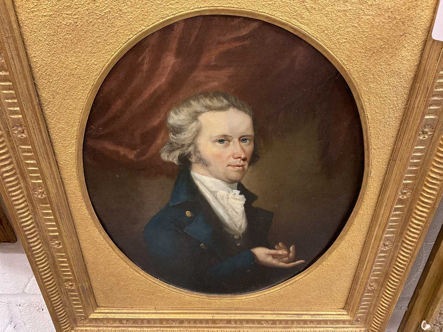 John Greham, late 18th century, oval oil on canvas - portrait of a gentleman, in gilt frame - Image 11 of 11