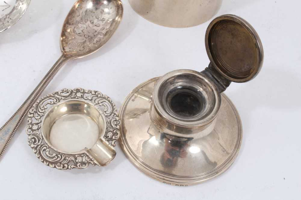 Group of miscellaneous silver items to include nurse's buckle, christening mug and other items - Image 8 of 8