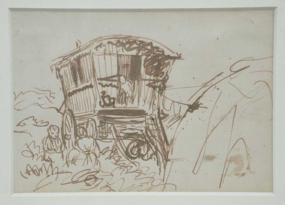 *Augustus John, pair of pen and ink drawings