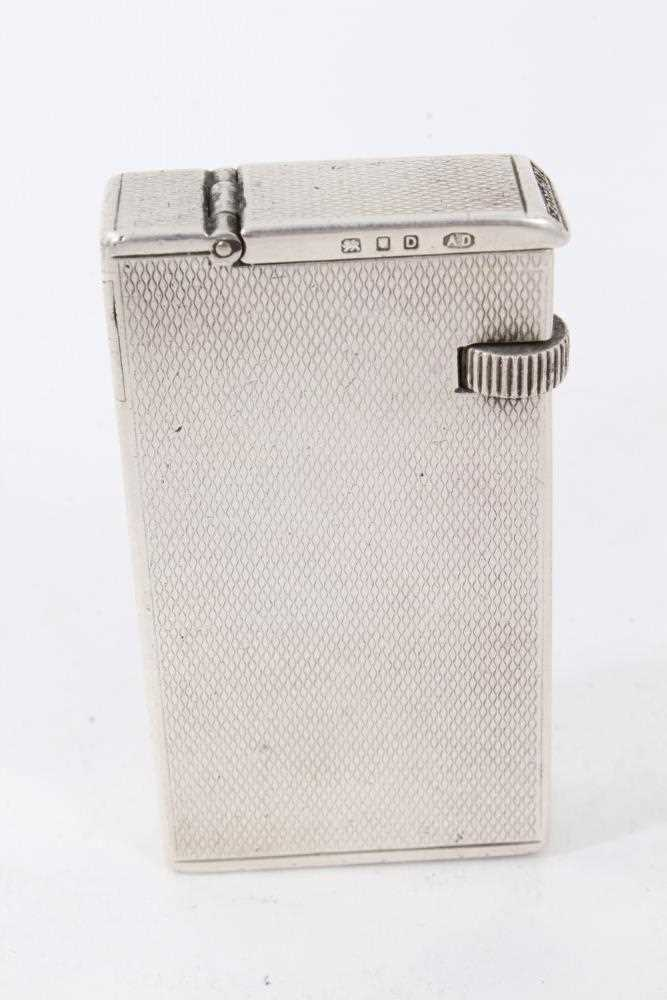 Late 1930s Dunhill silver petrol cigarette lighter (London 1939) Alfred Dunhill & Sons - Image 3 of 7