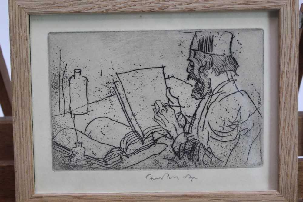 *Sir Frank Brangwyn (1867-1956) signed etching from 'L'Ombre de la Croix', 1931, in glazed frame P