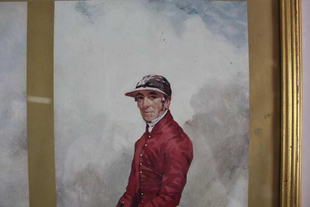 After Harry Hall, pair of coloured prints - Famous Jockeys, published by The Tryon Gallery, 57cm x 4 - Image 12 of 14