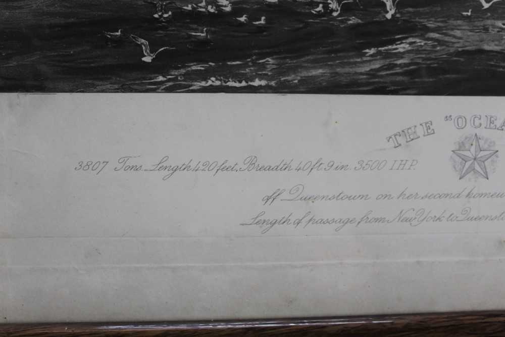 """William Lionel Wyllie (1851-1931) signed black and white engraving - White Star Line """"The Oceanic"""", - Image 5 of 15"""