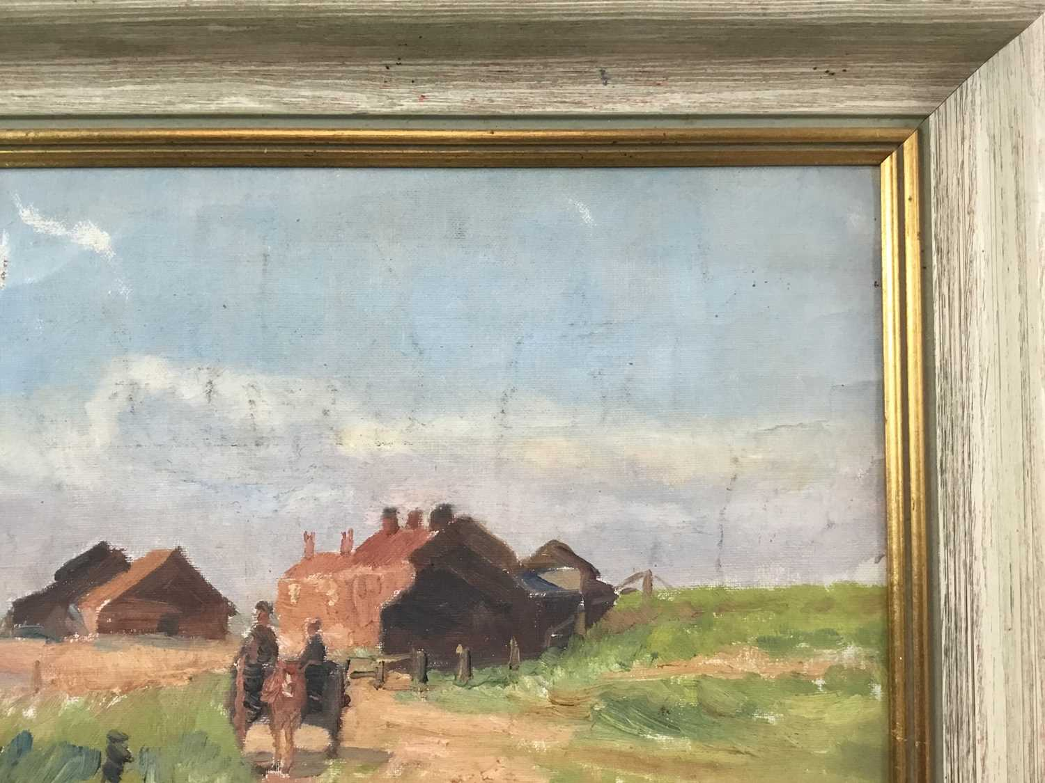 Robert G. D. Alexander (1875-1945) oil on canvas laid on board - Kirby Quay, Essex, with Carters Mil - Image 7 of 9