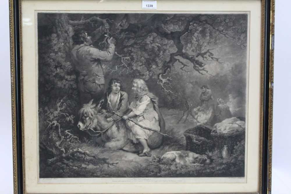 Late 18th century mezzotint by W. Ward after George Morland - The Woodcutter, published 1792 by Orme