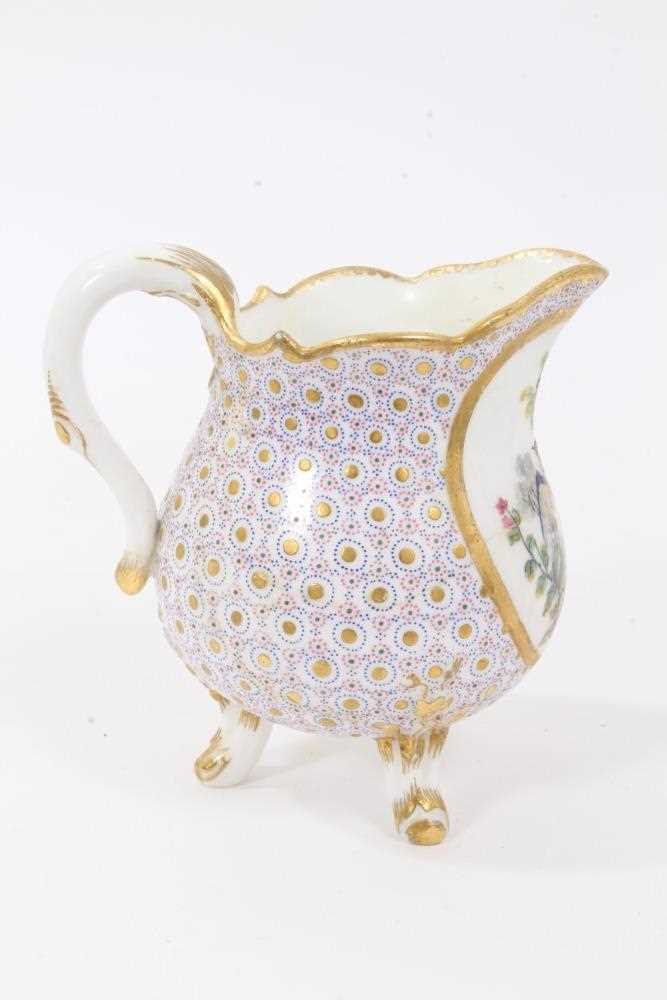Sèvres milk jug, circa 1770, probably painted by Evans, with scalloped rim and standing on three fee - Image 4 of 9