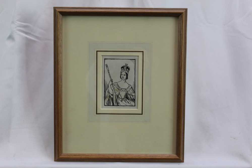 Cicely Mary Barker (1895-1930) pen and ink - 'Please to find a little Q in a Queen who quickly grew' - Image 2 of 3