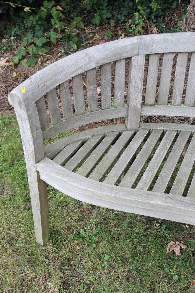 Teak garden bench - Image 3 of 5