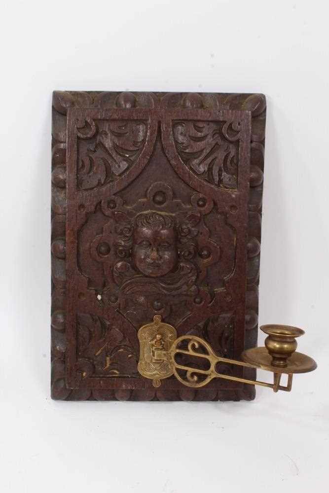 Collection of 17th century and later carved panels and furniture mounts - Image 6 of 9