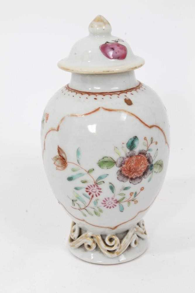 18th century Chinese caddy and cover two 19th century vases - Image 3 of 14
