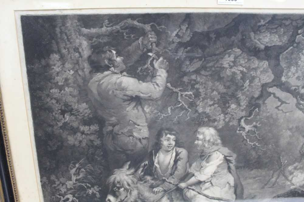 Late 18th century mezzotint by W. Ward after George Morland - The Woodcutter, published 1792 by Orme - Image 8 of 10