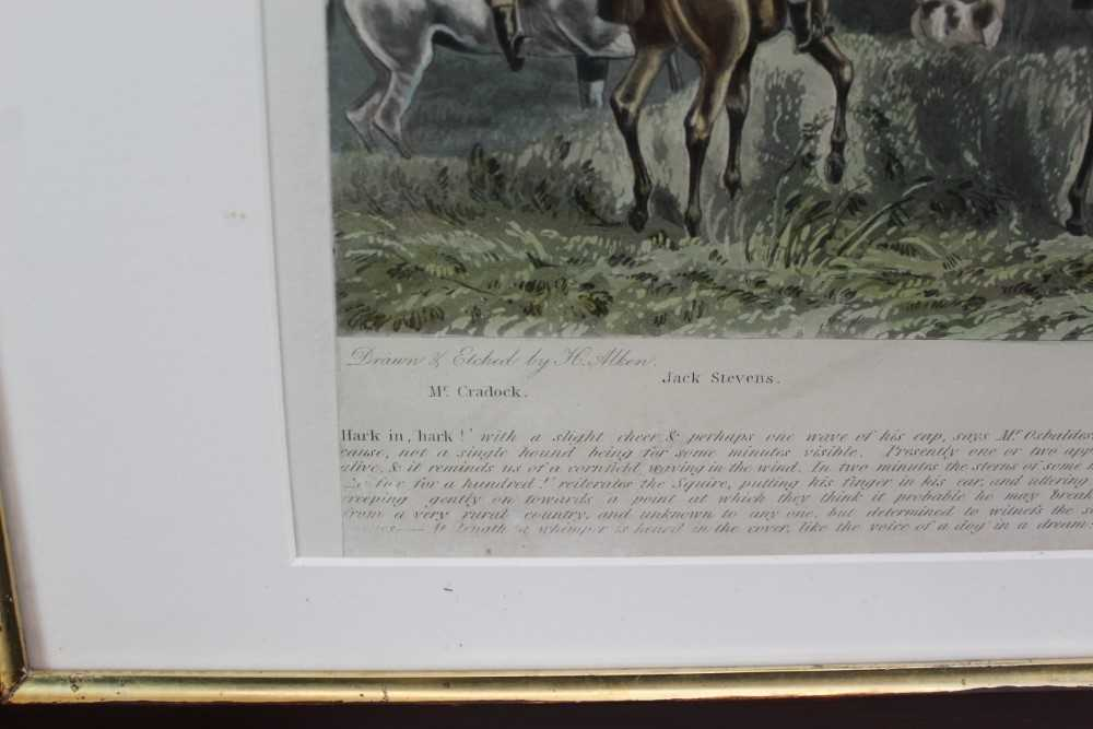 Henry Alken, five hand coloured engravings - The Quorn, in glazed frames - Image 5 of 19