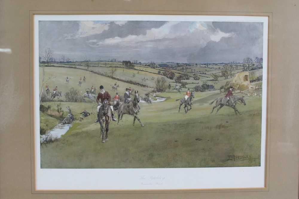 *Lionel Edwards (1878-1966) set of four hunting prints - The Old Surrey & Burstow, The South Notts,