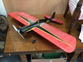 Model plane with petrol motor