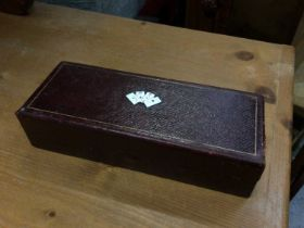 Early 20th century card box, with enamelled cover