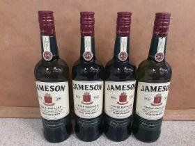 Four bottles of Jameson triple distilled 70cl Irish whisky