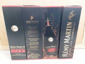 Four bottles of Remy Martin VSOP Cognac Fine Champagne 770c, in original boxes