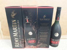 Four bottles of Remy Martin VSOP Cognac Fine Champagne 70cl, three in original boxes
