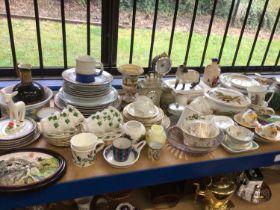 Large quantity of ceramics including Worcester, Portmeirion, tea and dinner wares etc